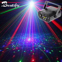 RGB DJ Disco Laser Projector For Dance Party Sound Lights Music for Club Stage Machine 128 Patterns