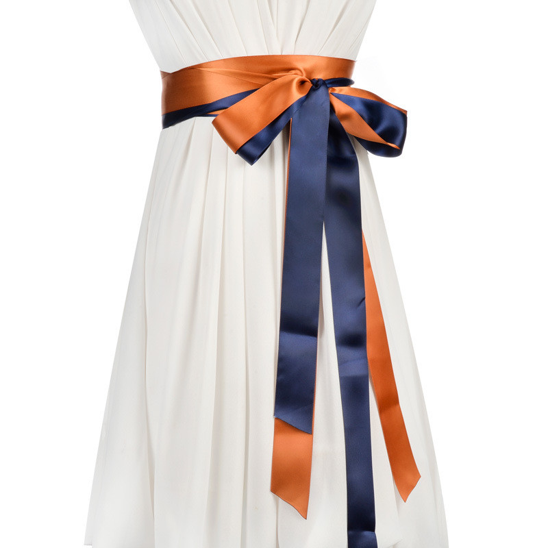 Colid Color Femme Belt Female Coloured Two Rings Belt Decorative Skirt Ribbon Female Waistband Roupas Feminina