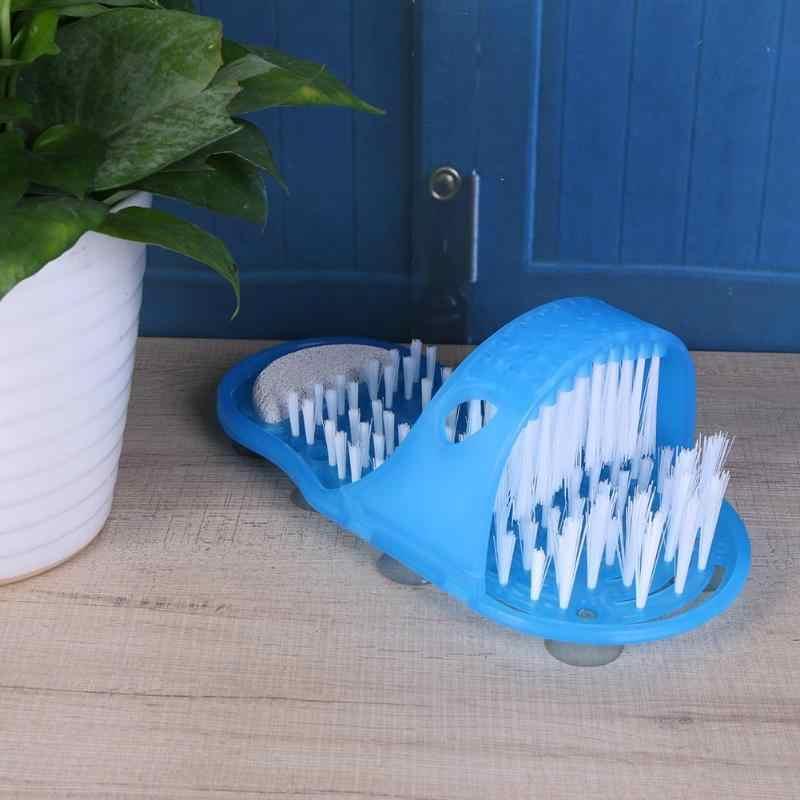 Nhựa Đầu Tắm Loại Bỏ Da Chết Massage Trơn Chân Chà Với Bàn Chải Cho Bàn Chân Phòng Tắm Sản Phẩm Chăm Sóc Chân Xanh Dương