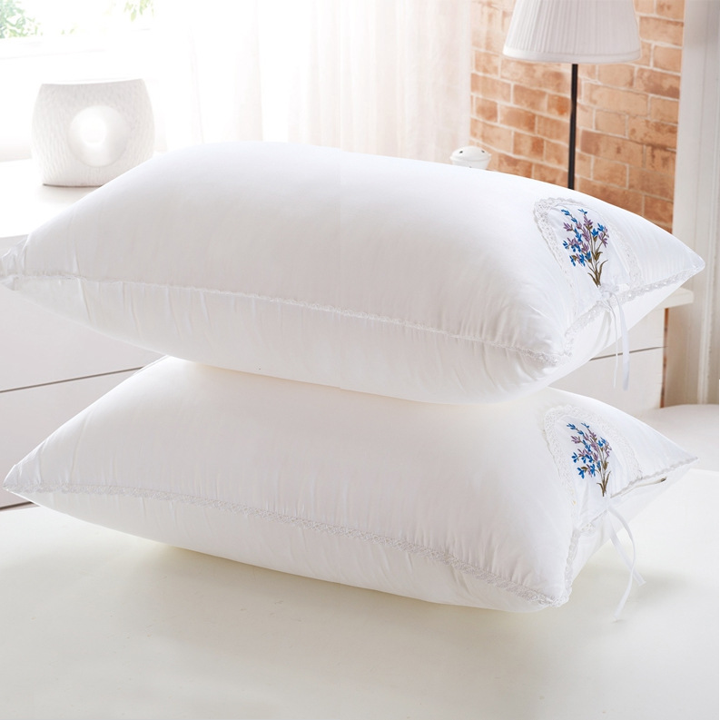 Cotton Korean style Feather Fabric Pillow Interior Lavender Sachet Healthy Pillow Single Person Pillow Manufacturers Special Off