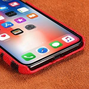 Image 3 - 本革パールgourami Fhx 39kラグジュアリー携帯電話のケース6s 7 8プラスxr x xs最大11 11Pro最大裏表紙ケース