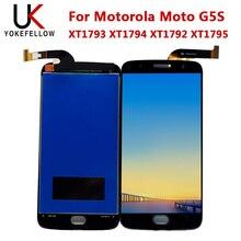 Wyświetlacz LCD dla Motorola Moto G5S XT1793 XT1794 XT1792 XT1795 wyświetlacz LCD ekran Digitizer kompletny montaż