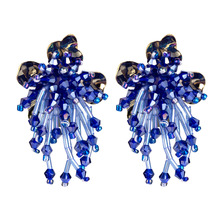 2019 New Handmade Multicolor Acrylic Beads Stud Earrings for Women Fashion Jewelry Bohemian Collecti
