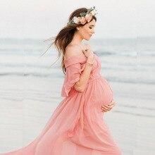 цена Chiffon Maternity Photography Props Pregnancy Dress Photography Maternity Dresses For Photo Shoot Pregnant Dress Lace Maxi Gown онлайн в 2017 году