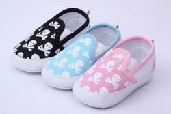 Цвет в наличии сейчас! Детская череп животное обувь детская обувь Розовая обувь для малышей # E