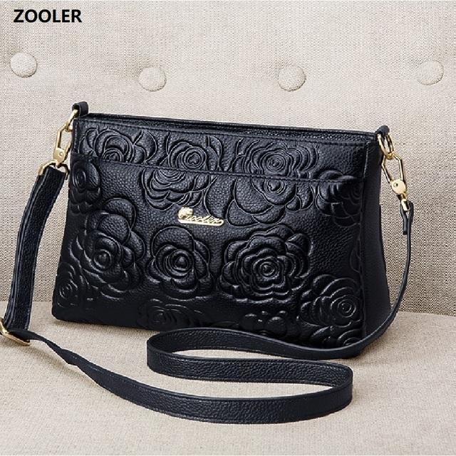 ZOOLER Luxury Brand Designer genuine leather bags small cross body bag women leather purse shoulder mini bag sac femme#yc202