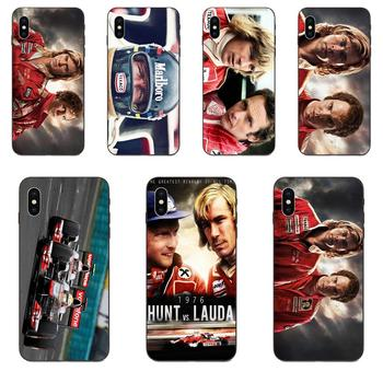 James Hunt Niki Lauda Competing TPU Phone Coque For Galaxy A3 A5 A6 A6s A7 A8 A9 A10 A20E A30 A40 A50 A60 A70 A80 A90 Plus 2018 image