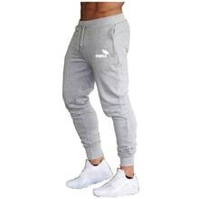 2020 New  Casual Cotton Print Pants Men Joggers Slim Sweatpants Gyms Fitness Track Pants Male Bodybuilding Cotton Trousers