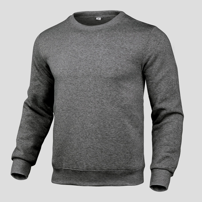 2020 new winter round neck cotton solid color fashion casual pullover jogging fitness sweatshirt track and field sweater S〜3XL 2