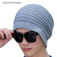 Women Men Unisex Hat Winter Warmpositive And Negative Double Head Hats knitted Cap Fashion Hop Beanie Female