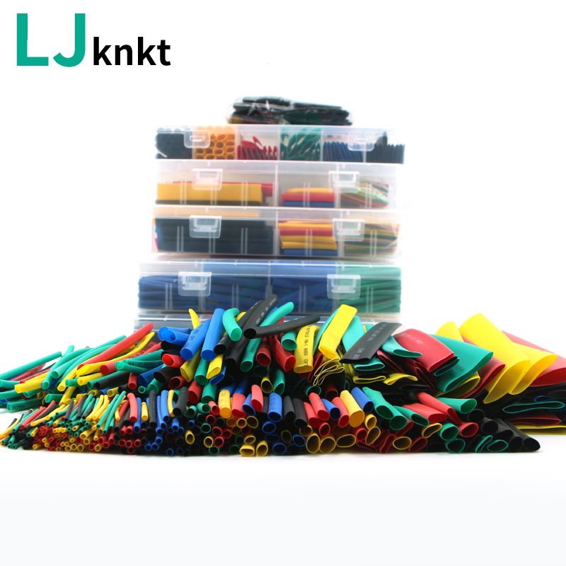 164/280/328/560/580pcs With Box Waterproof Heat Shrink Tubing Shrinkable 2:1 Wire Tube Diy Kit Sleeving Cable Sleeve Connection