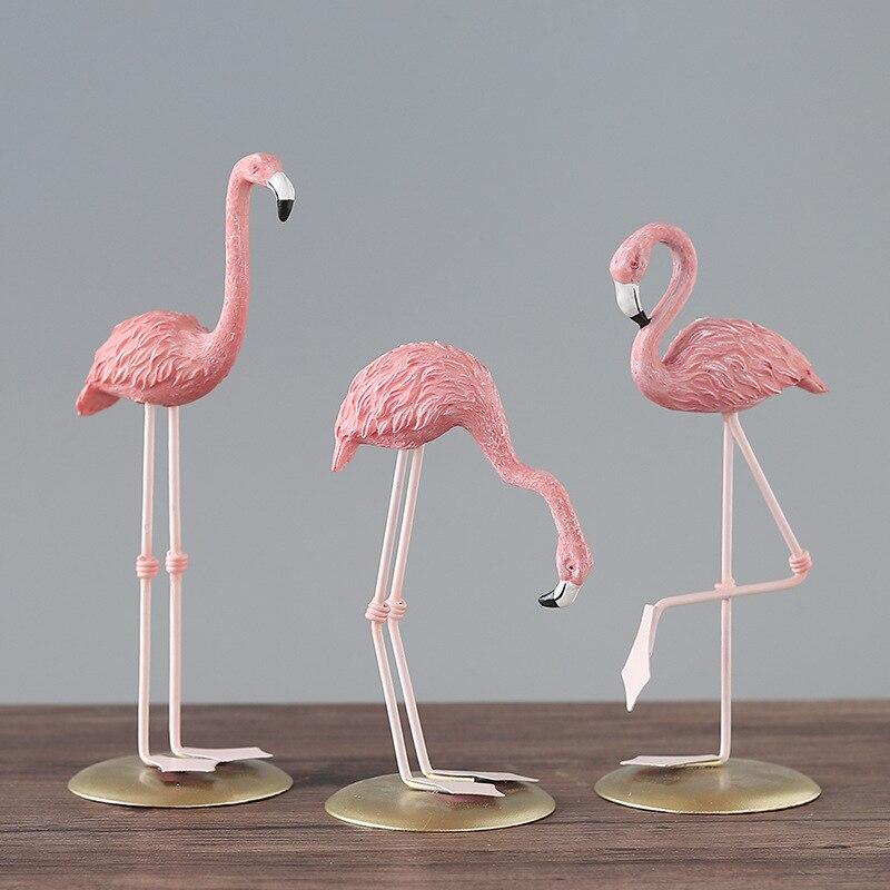 >Pink Flamingo Figurine Yard <font><b>Ornament</b></font> Crafts <font><b>Decoration</b></font> Objects Arts Gifts <font><b>Home</b></font> <font><b>Decoration</b></font> Accessories for Living Room