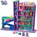 Оригинальный Карманный супер-пакет Polly Pollyville Mega Mall, аксессуары, игрушки для девочек, торговый центр, горячие игрушки для девочек, домашний иг...
