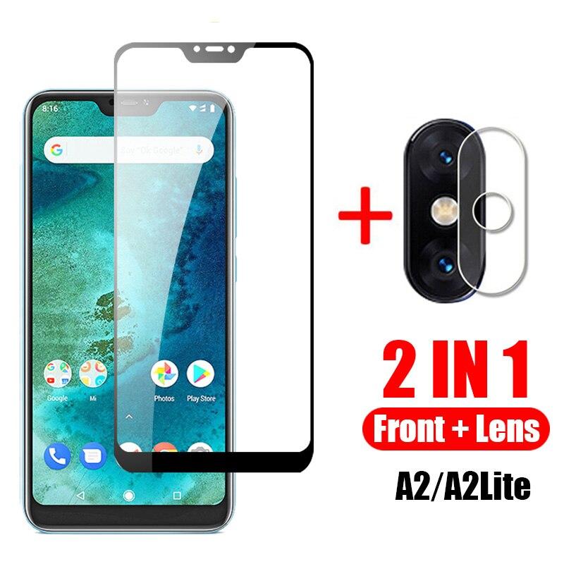 2 In 1 Protective Glass For Xiaomi Mi A2 Lite Camera Back Cover For Xiomi A2 A2lite A 2 2a Mia2 Light Tremp Glasses Lens Case