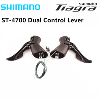 Shimano TIAGRA ST 4700 4703 Schwarz Dual Control Hebel 2x10 Geschwindigkeit 3X10 Speed Umwerfer Straße Fahrrad Bike Shifter 20s 30s-in Fahrrad-Umwerfer aus Sport und Unterhaltung bei