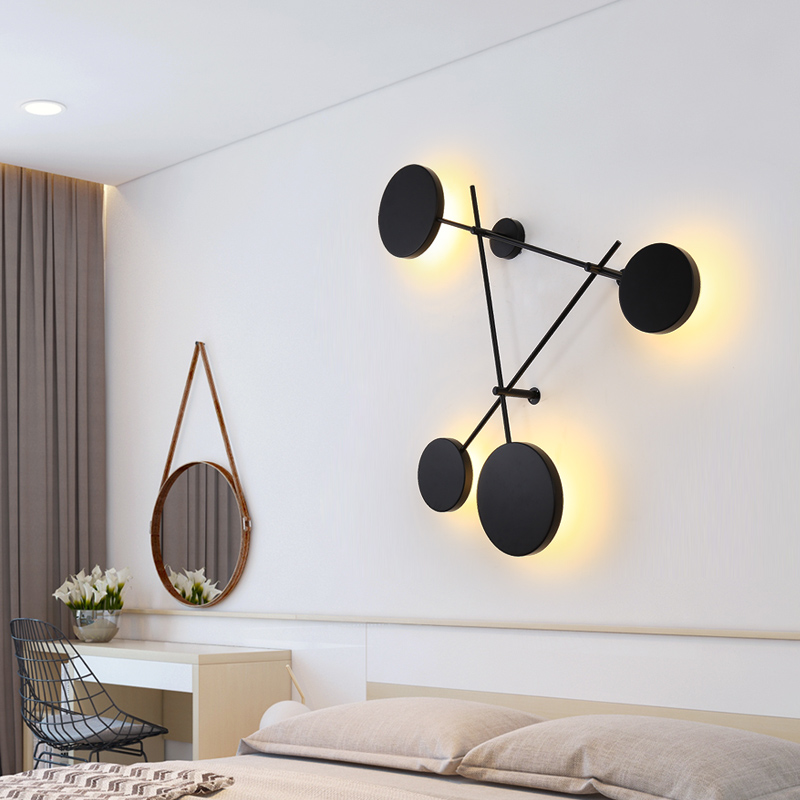 lampada cabeceira led arandela luminarias ferro preto luminaria interior loft casa 03