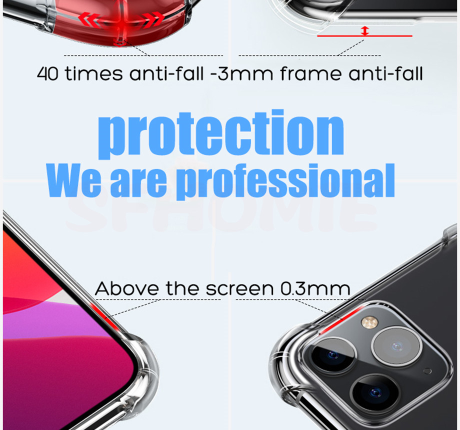 H3f250230e92749078aa3826a8135b055v - Luxury Shockproof Silicone Phone Case For iPhone 11 Pro X XR XS MAX 6 6s 7 8 Plus Case Covers Transparent Protection Back Cover