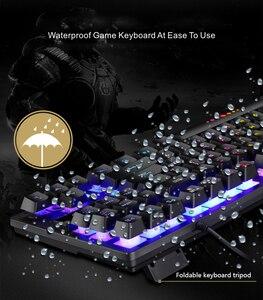 Игровая механическая клавиатура для геймеров, ПК, ноутбука, синий красный переключатель, 87key RU/US, проводная клавиатура с защитой от привиден...