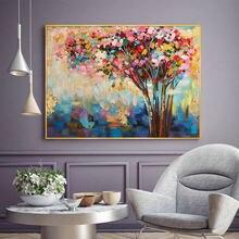 Картина маслом ручной работы холст абстрактная Современная Настенная