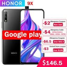 Honor – téléphone portable 9X, Kirin 810, Android 9.0, écran IPS 2340x1080 de 6.5 pouces, 4/6 go de RAM, 64 go de ROM, caméra haute résolution 48 mp + 2 mp, nouveau