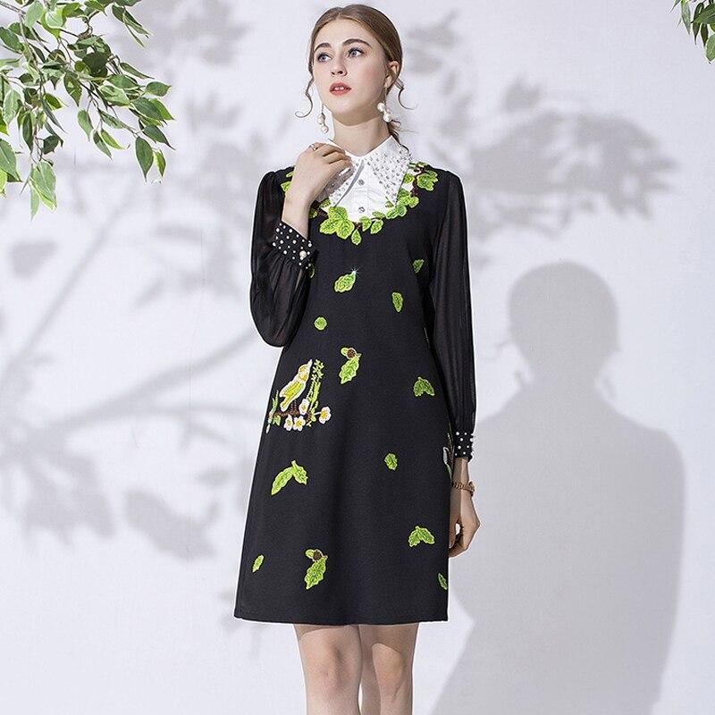 Tingfly/дизайнерское элегантное платье принцессы Kate Королевского синего цвета; женское винтажное платье до колена для работы в офисе с поясом; ... - 2