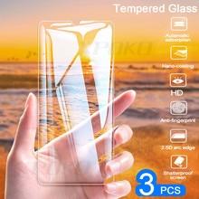 3Pcs Full COVER กระจกนิรภัยสำหรับ Huawei P20 Pro P30 Lite P สมาร์ท P10 Plus ป้องกันหน้าจอสำหรับ Honor 20 10 Lite 8X ฟิล์มแก้ว