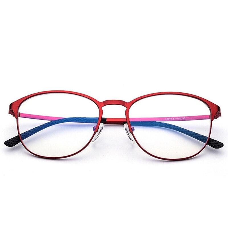 Haute qualité exquise ultra-léger ultra-mince alliage de titane enduit myopie anti-bleu lumière plat miroir lunettes cadre 30008