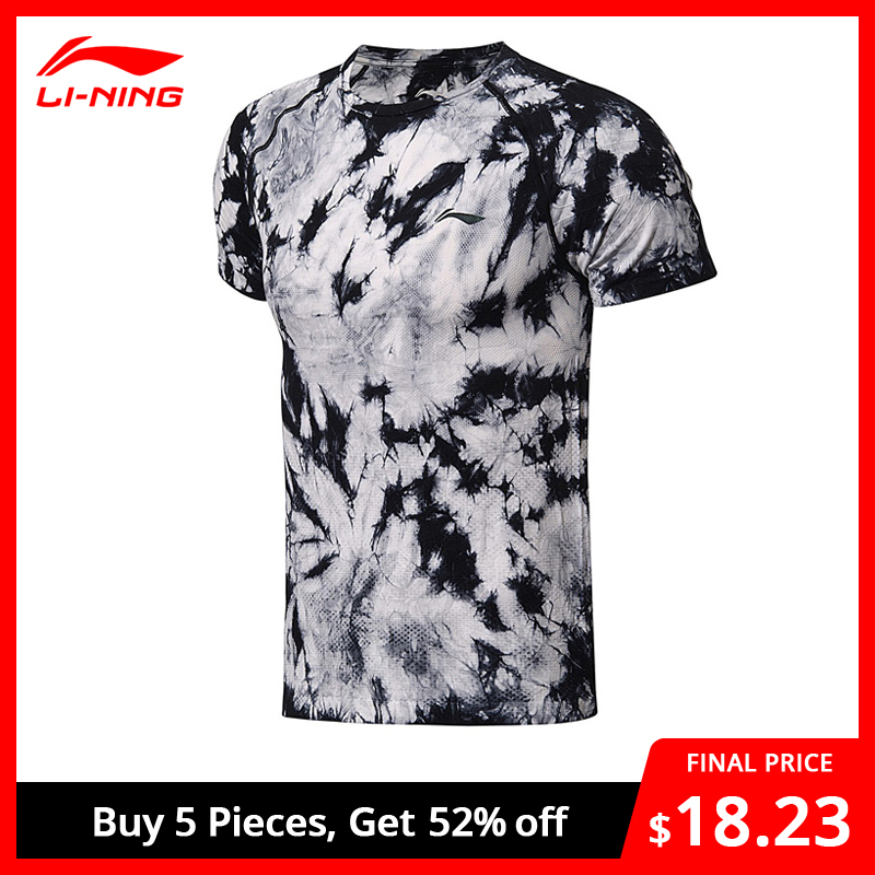 Li-Ning Men Professional Badminton T-shirts Regular Fit Breathable Li Ning LiNing Sports Competition Tee T-shirt AAYN183 MTS2717