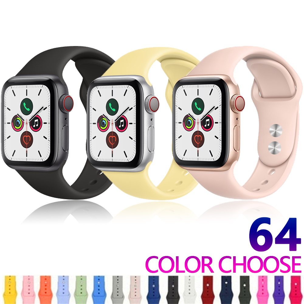 Strap For Apple Watch Band Apple Watch 5 4 3 Iwatch Band 42mm 44mm 38mm 40mm Correa Bracelet Silicone Watchband Belt Accessories