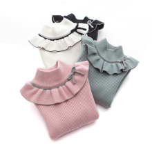 Sweater Pullover Wear Girls' Winter Plush Autumn And SW003 Bottoming Thickened High-Collar