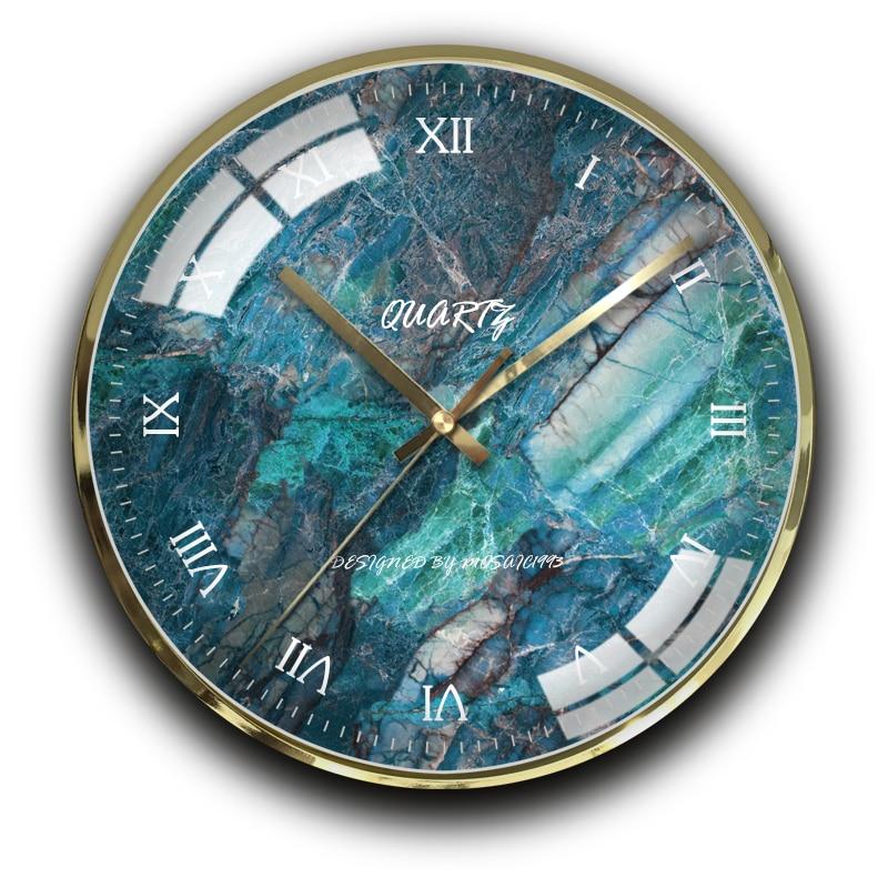 Gold Luxury Modern Wall Clock Metal Watch Mechanism Large Clocks Wall Home Decor Kitchen Clock Silent Duvar Saati Gift CC50WC