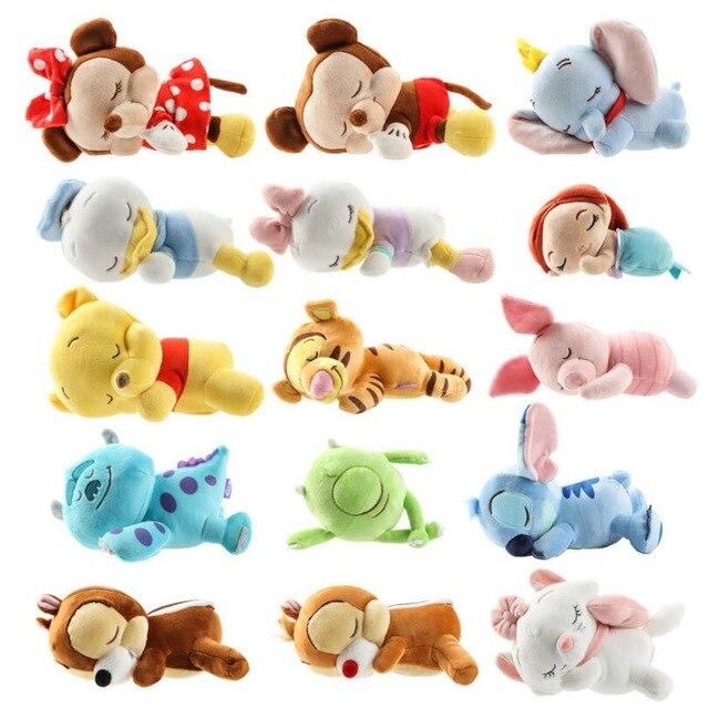 Bébés mignons bébé Mickey Minnie point ange Simba Marie ours gorille hercule pégase avec couverture peluche jouet poupée enfants cadeaux