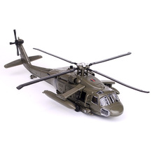 Military Model Simulation Exquisite Diecasts Toy Vehicles  Black Hawk Helicopter 1:64 Alloy Airplane Model Toy For Children 098