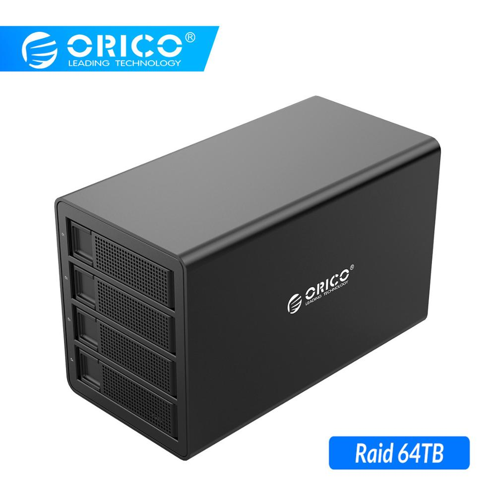 ORICO 4 bay 3 5 ''HDD Docking Station USB3.0 zu SATA Mit RAID Aluminium HDD Gehäuse 150W Interne Power adapter HDD Fall-in HDD-Gehäuse aus Computer und Büro bei title=