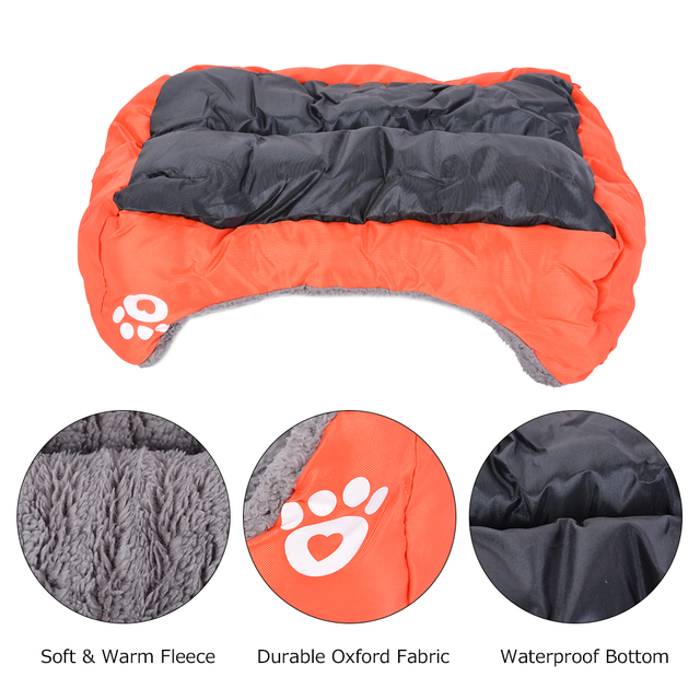 (S-3XL) Large Pet Cat Dog Bed 8Colors Warm Cozy Dog House Soft Fleece Nest Dog Baskets Mat Autumn Winter Waterproof Kennel 4