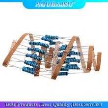 20pcs 2W Metal film resistor 1% 1R ~ 1M 2.2R 4.7R 10R 22R 47R 100R 220R 470R 1K 10K 100K 2.2 4.7 22 47 100 220 470 ohm