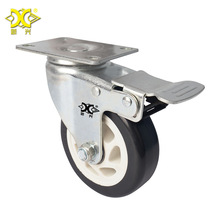 3-inch Double Axle Tong Hua Band Brake Caster Mute Durable Universal Wheel Cart hot 4 inch caster wheel manufacturer 100mm medium duty nylon caster brake