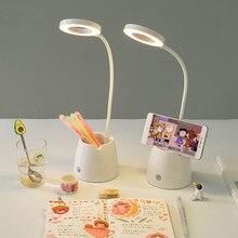 Sharkbang מטרה כפולה רב תכליתי LED מנורת עט מחזיק טלפון מחזיק Creative מקופל Penholder מיכל מתנת יום הולדת