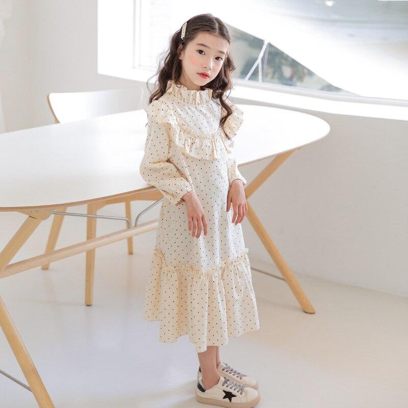 new 2020 baby princess dress girl Spring dress children cute dress kids dress for girls leisure toddler dot dress cotton,#5092Dresses   -