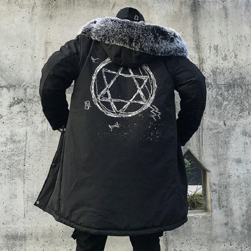 Nouveau 2019 hiver veste hommes épais chaud longues vestes Parkas hombre hommes fourrure à capuche veste longue automne hiver Trench manteau mâle