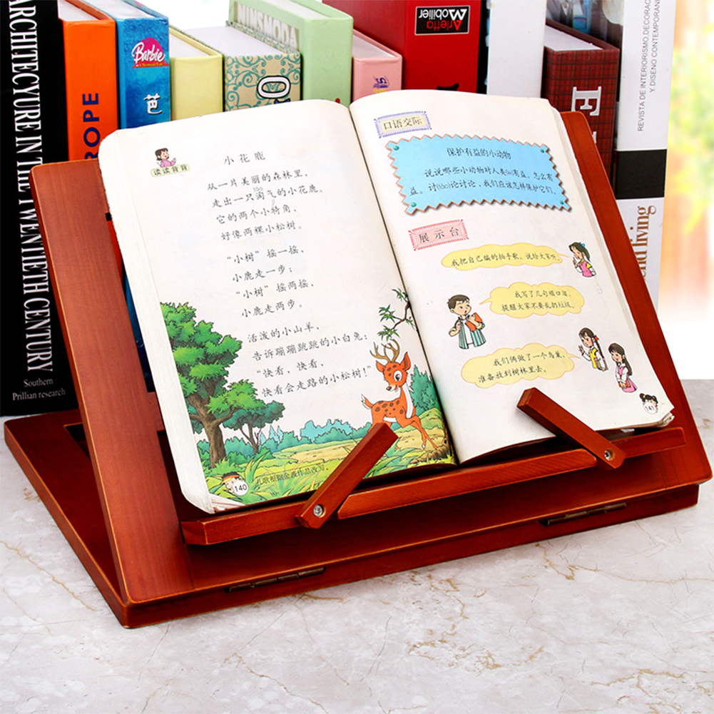 Table Wooden Adjustable Angle Stationery Reading Bracket Drawing Book Stand Student Childern Tablet Home Office Lectern Foldable