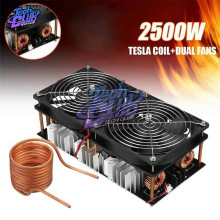 1800W 2500W ZVS Induction Heater Induction Heating Machine PCB Board Module Flyback Driver Heater Cooling Fan Interface+ Coil