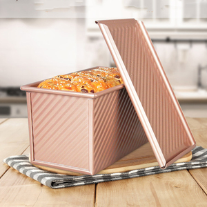2019 New Useful 450g Carbon Steel Bread Loaf Pan With Cover Bread Toast Mold w Lid Heavy Duty Professional Bread maker Pan(China)