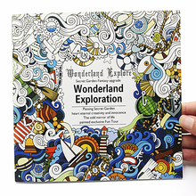 Coloring-Book English-Version New for Adult Relieve-Stress Graffiti Drawing 24-Pages