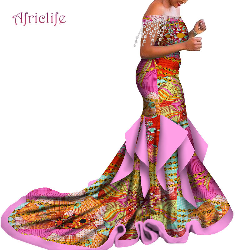 Up To 30% Off Women Clothing And Wedding Off Shoulder Floor Length Wedding Dresses New Trend For 2020 African Clothing WY5057