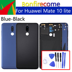 Image 1 - Battery Back Cover For Huawei Mate 10 lite Back Battery Door Rear Housing Cover Case For Huawei Nova 2i Chassis Shell