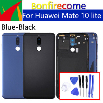 Battery Back Cover For Huawei Mate 10 lite Back Battery Door Rear Housing Cover Case For Huawei Nova 2i Chassis Shell