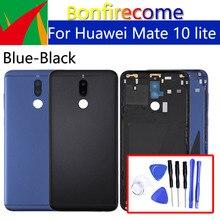 Huawei Mate 10 lite 용 배터리 백 커버 Huawei Nova 2i 섀시 쉘용 배터리 도어 후면 하우징 커버 케이스