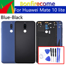 Задняя крышка батарейного отсека для Huawei Mate 10 lite, задняя крышка батарейного отсека, задняя крышка корпуса, чехол для Huawei Nova 2i, Корпус Корпуса