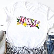 Женская модная футболка с буквенным принтом милым женская графическим